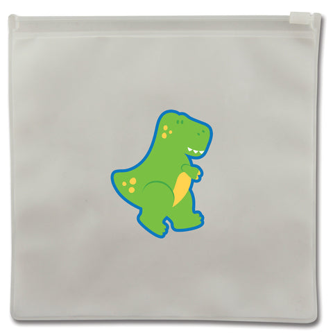 Stephen Joseph Reusable DINOSAUR Snack Bags (Set of 2)