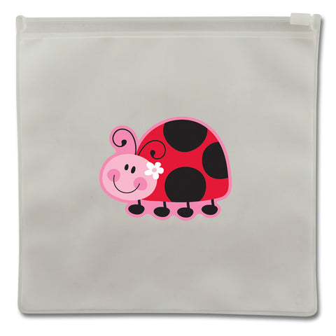 Stephen Joseph Reusable LADYBUG Snack Bags (Set of 2)