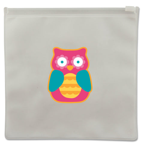 Stephen Joseph Reusable GIRL OWL Snack Bags (Set of 2)