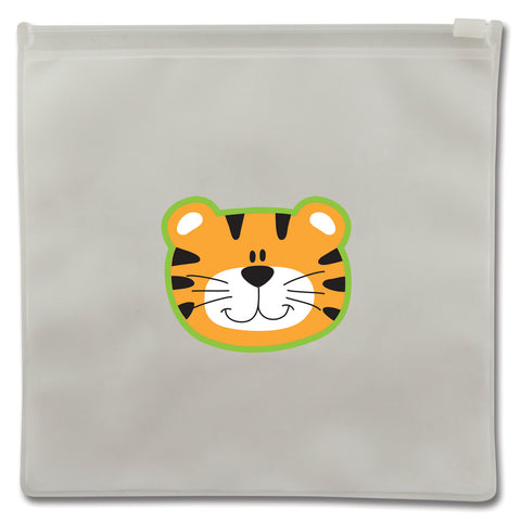 Stephen Joseph Reusable TIGER Snack Bags (Set of 2)