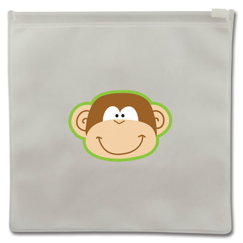 Stephen Joseph Reusable MONKEY Snack Bags (Set of 2)