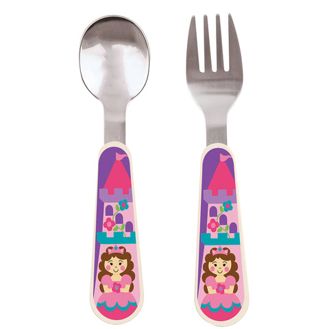 Stephen Joseph PRINCESS Spoon & Fork Set