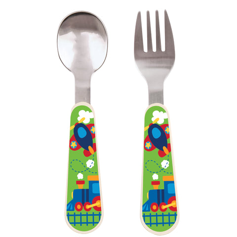 Stephen Joseph TRANSPORTATION Spoon & Fork Set