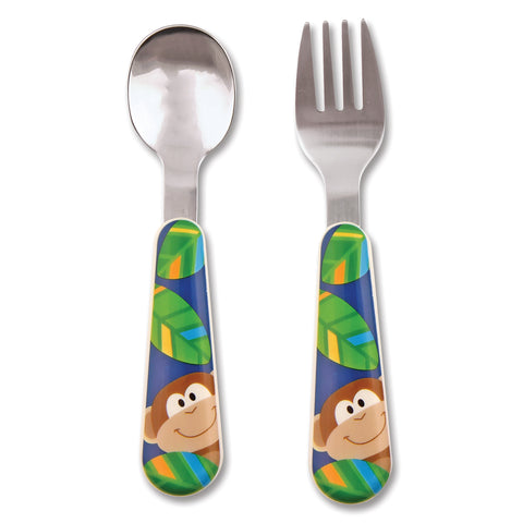 Stephen Joseph MONKEY Spoon & Fork Set