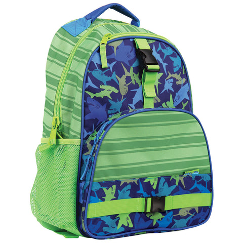 Stephen Joseph All Over Print Shark Backpack