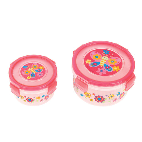 Stephen Joseph BUTTERFLY Snack Containers (Set of 2)