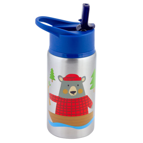 Stephen Joseph Stainless Steel Water Bottle - BEAR