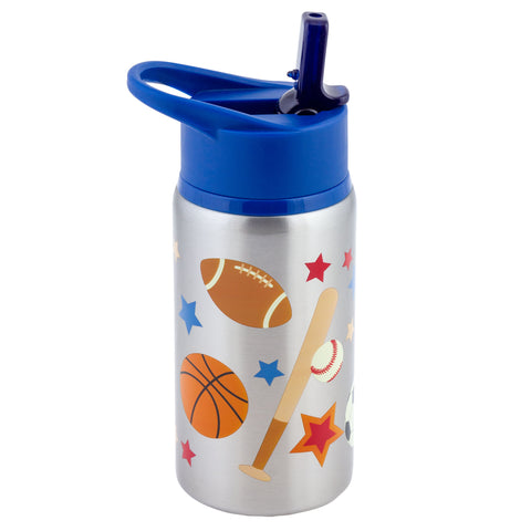 Stephen Joseph Stainless Steel Water Bottle - SPORTS