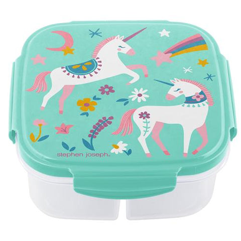 Stephen Joseph Snack Box With Ice Pack: Unicorn