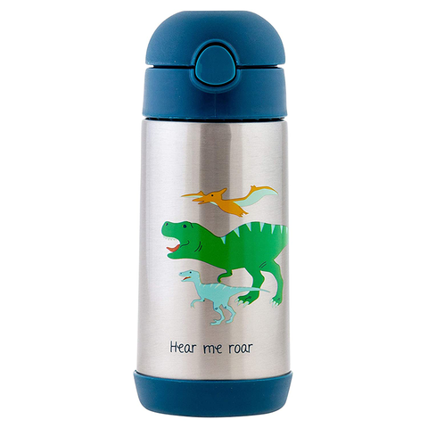 Stephen Joseph Double Wall Stainless Steel Bottle: Dino