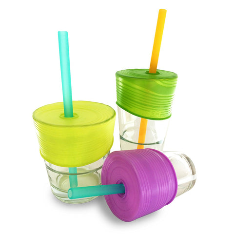 Silikids Siliskin Straw Top 3-pack Lids + 1 Straw