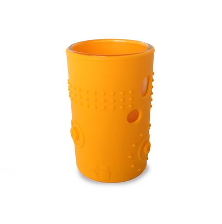 Silikids Siliskin Glass 6oz Tart Orange (2-Pack)