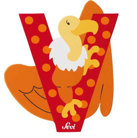 "Sevi Letter ""V"":  Animal 