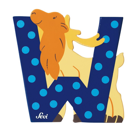 "Sevi Letter ""W"":  Animal 