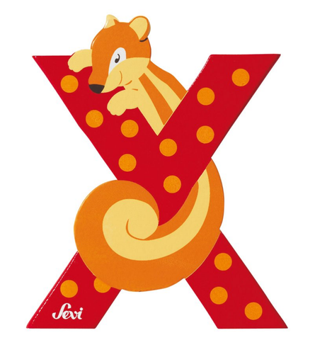 "Sevi Letter ""X"":  Animal 