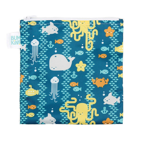 Bumkins Large Reusable Snack Bags: Sea Creatures