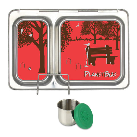 PlanetBox Shuttle with One Sililid Tall Dipper & Free Day in the Park Magnets