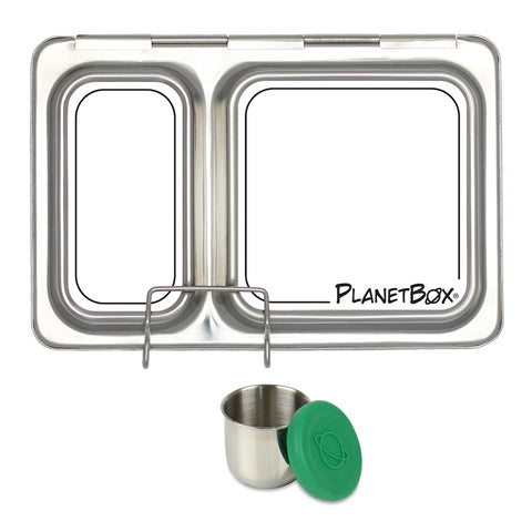 PlanetBox Shuttle with One Sililid Tall Dipper & Free Draw it Yourself Magnets