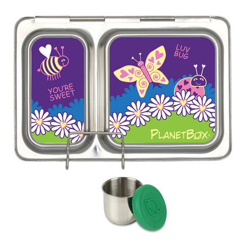 PlanetBox Shuttle with One Sililid Tall Dipper & Free Ladybug Magnets