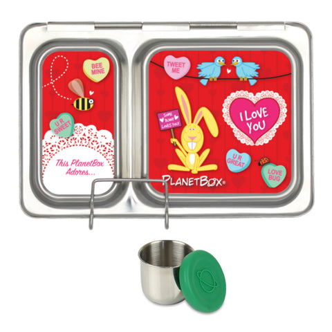 PlanetBox Shuttle with One Sililid Tall Dipper & Free Love Bug Magnets
