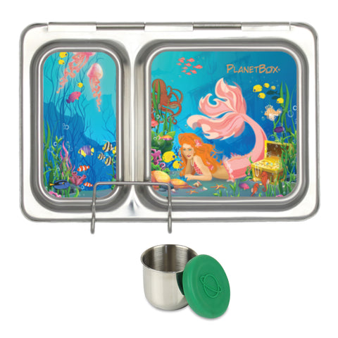 PlanetBox Shuttle with One Sililid Tall Dipper & Free Mermaids Magnets