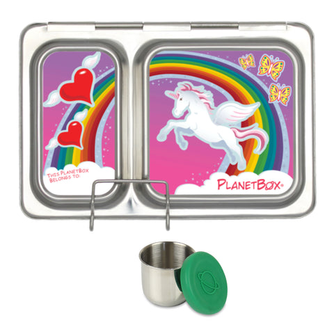 PlanetBox Shuttle with One Sililid Tall Dipper & Free Unicorn Magnets