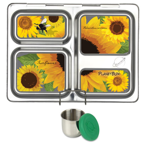 PlanetBox Launch with One Sililid Tall Dipper & Free Sunflower Magnets