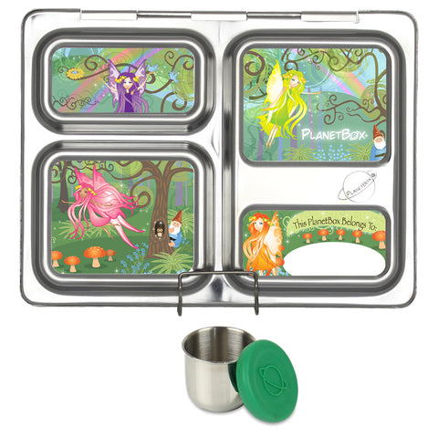 PlanetBox Launch with One Sililid Tall Dipper & Free Woodland Fairies Magnets