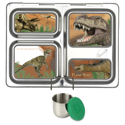 PlanetBox Launch with One Sililid Tall Dipper & Free Velociraptor Magnets