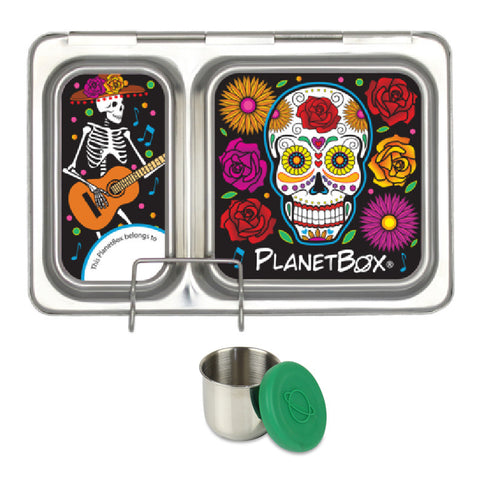 PlanetBox Shuttle with One Sililid Tall Dipper & Free Sugar Skulls Magnets