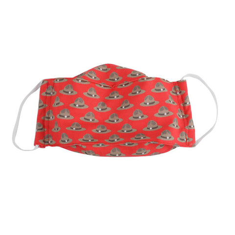 Snug as a Bug 100% Cotton Face Mask: Mountie (Kid & Adult Sizes)