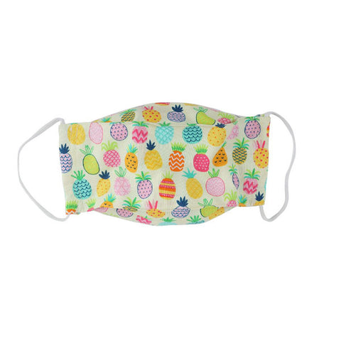 Snug as a Bug 100% Cotton Face Mask: Pineapple (Kid & Adult Sizes)