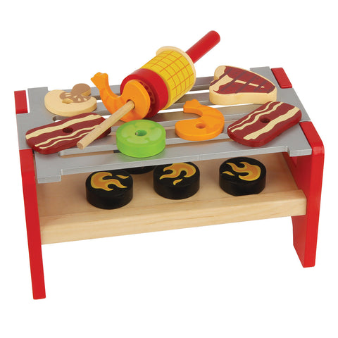 Stephen Joseph Wooden GRILL Play Set | CuteKidStuff.com