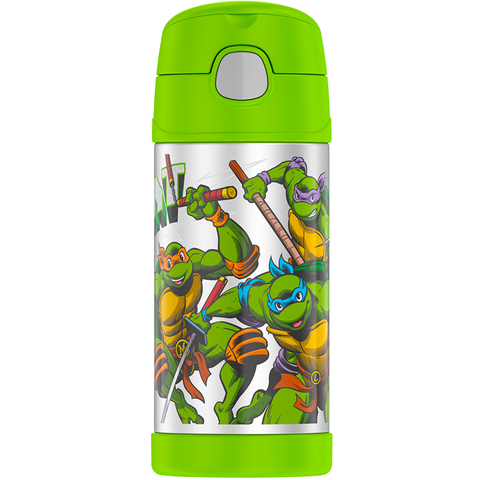 Thermos 12oz FUNtainer Straw Bottle: TMNT