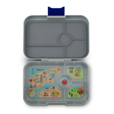 Yumbox Tapas - Flat Iron Grey (4-Compartment Tray)