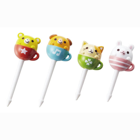 Torune Tea Cup Animal Food Picks