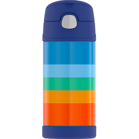 Thermos 12oz FUNtainer Straw Bottle: Cool Retro