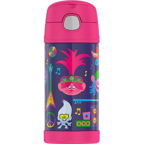 Thermos 12oz FUNtainer Straw Bottle: Trolls