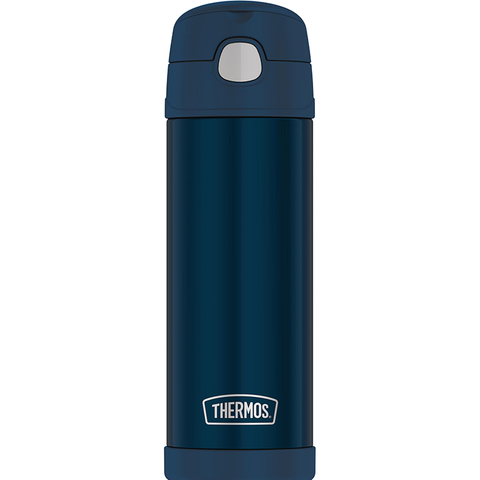 Thermos 16 oz FUNtainer Hydration Bottle with SPOUT: Navy Blue
