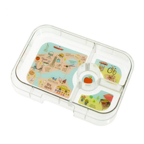 Yumbox Extra Tray: 4 Compartments, NYC Theme