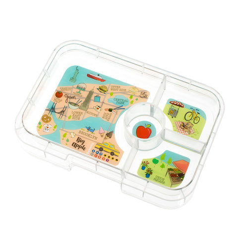 Yumbox Tapas - Extra 4-Compartment TAPAS Tray, NYC Theme