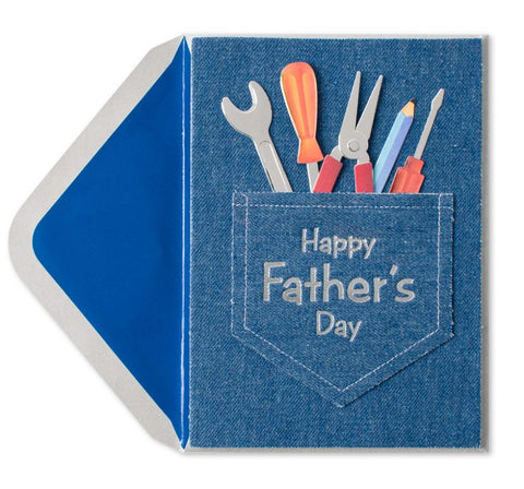 PAPYRUS Handmade Jean Pocket & Tools Father's Day Card