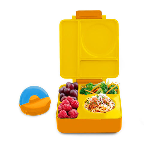 OmieBox Hot & Cold Insulated Bento Lunch Box - Yellow Sunshine