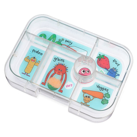 Yumbox Extra Tray: 6 Compartments, Funny Monsters theme