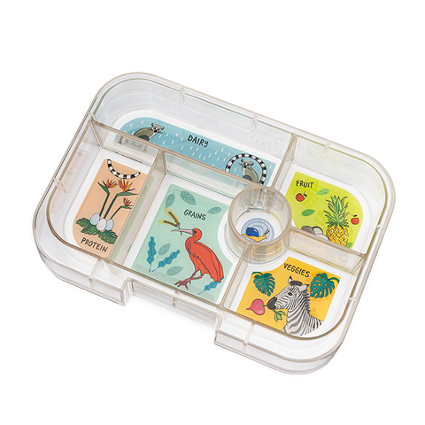 Yumbox Extra Tray: 6 Compartments, Jungle theme