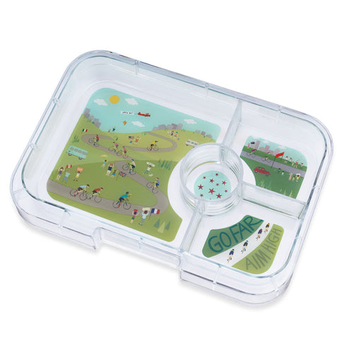 Yumbox Extra Tray: 4 Compartments, Bike Race theme