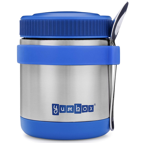 Yumbox Zuppa with Spoon & Siilicone Band: Neptune Blue