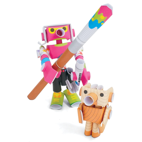 Magnote Piperoid Andy & Pino Paper Craft - Art Prodigy & Wooden Doll