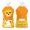 Squooshi: Assorted Animals (6 Large Reusable Food Pouches, 5oz)