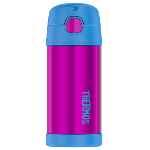 Thermos 12oz FUNtainer Straw Bottle: Aubergine/Teal